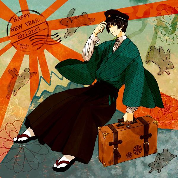 Tags: Anime, Koujisako, Axis Powers: Hetalia, Japan, Rising Sun Motif, Suitcase, Sayagata, Happy 2011, Pixiv