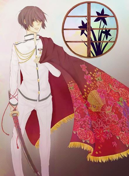Tags: Anime, Saku (Artist), Axis Powers: Hetalia, Japan, Round Window, Fanart, Pixiv, Asian Countries