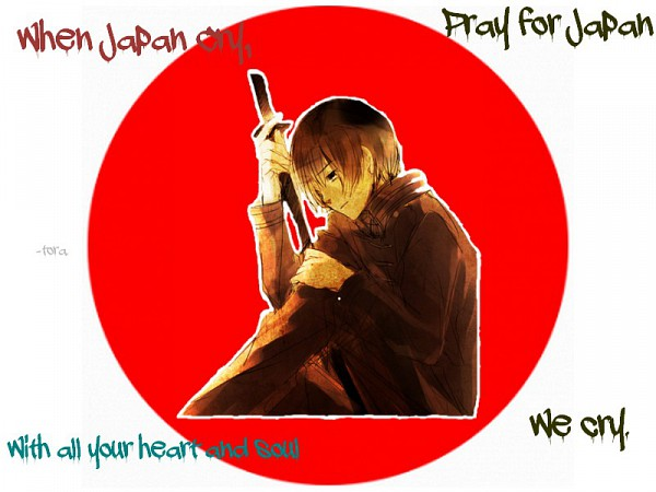 Tags: Anime, Axis Powers: Hetalia, Japan, Red Sun Motif, Pray For Japan, Artist Request, Fanart, Axis Power Countries, Asian Countries