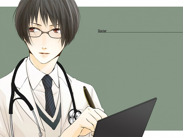 Tags: Anime, Nkr2, Axis Powers: Hetalia, Japan, Doctor, Stethoscope, Writing Error, Pixiv, Fanart, Axis Power Countries, Asian Countries