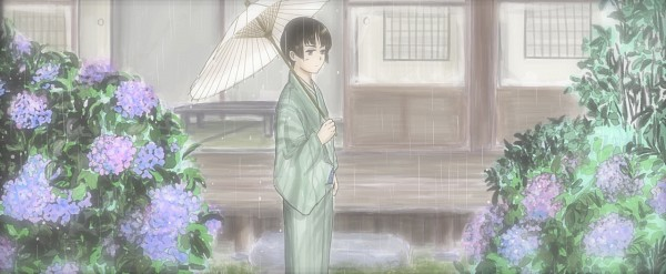 Tags: Anime, Pixiv Id 2769923, Axis Powers: Hetalia, Japan, Porch, Facebook Cover, Asian Countries, Axis Power Countries