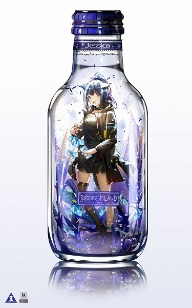 Tags: Anime, Pixiv Id 25295189, Arknights, Jessica (Arknights), In a Bottle