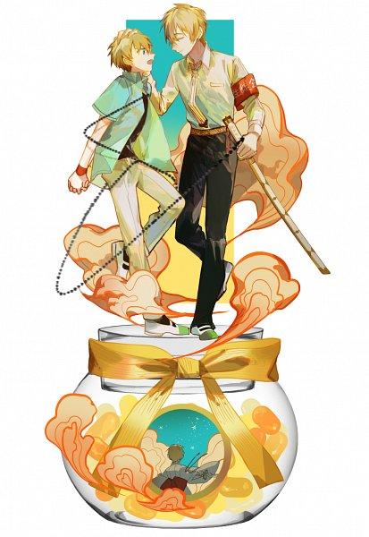 Tags: Anime, Pixiv Id 10144488, Jibaku Shounen Hanako-kun, Minamoto Teru, Minamoto Kou, Pot (Jar), Fanart From Pixiv, Pixiv, Fanart, Toilet-bound Hanako-kun