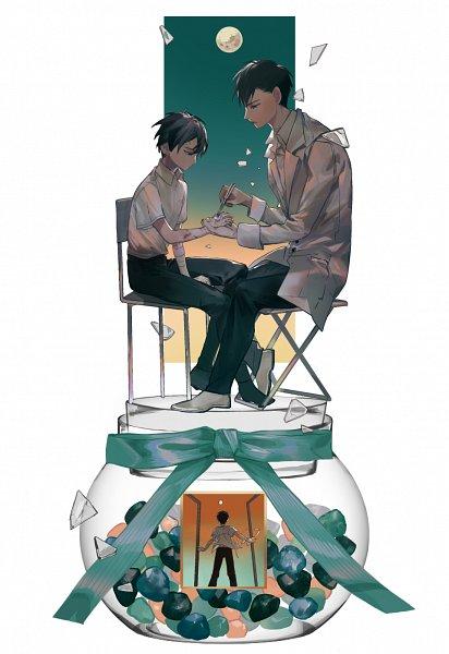 Tags: Anime, Pixiv Id 10144488, Jibaku Shounen Hanako-kun, Tsuchigomori, Hanako-kun, Broken Glass, Open Window, Pot (Jar), Bruise, Scene Reference, Fanart, Fanart From Pixiv, Pixiv, Toilet-bound Hanako-kun