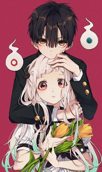 Tags: Anime, Pixiv Id 13756923, Jibaku Shounen Hanako-kun, Yashiro Nene, Hanako-kun, Tulip, Fanart, Fanart From Pixiv, Pixiv, Toilet-bound Hanako-kun