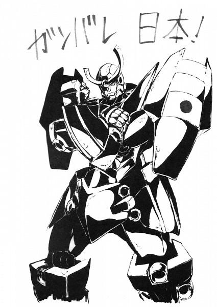 Tags: Anime, Abe Shingo, Gainax, Tengen Toppa Gurren-Lagann, Jibun O Shinjite, Pray For Japan, Official Art, Sketch