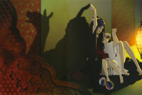 Tags: Anime, Jigoku Shoujo, Hone-Onna, Enma Ai, Temari Ball, Official Art, Hell Girl