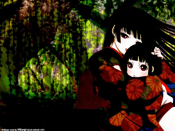 Tags: Anime, Jigoku Shoujo, Enma Ai, Wallpaper, Hell Girl