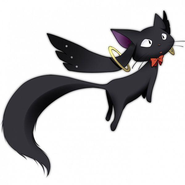 Tags: Anime, Mocchi, Majo no Takkyuubin, Jiji (Majo no Takkyuubin), Character Fusion, Kyubee (Cosplay), Pixiv, Fanart