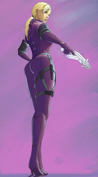 Tags: Anime, Resident Evil, Jill Valentine, Machine Gun, Artist Request