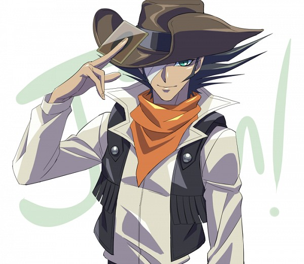 Tags: Anime, Rokuro, Yu-Gi-Oh! GX, Yu-Gi-Oh!, Jim Crocodile Cook, Brown Hat, Cowboy, Brown Headwear, Western, Orange Neckwear, Fanart