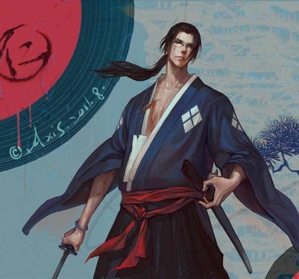 Tags: Anime, .Axis., Samurai Champloo, Jin (Samurai Champloo), PNG Conversion, Pixiv