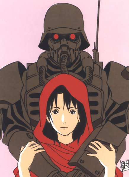 Tags: Anime, Tetsuya Nishio, Production I.G., Red Riding Hood, Jin Roh, Fuse Kazuki, Amemiya Kei, Army, Soldier, Official Art