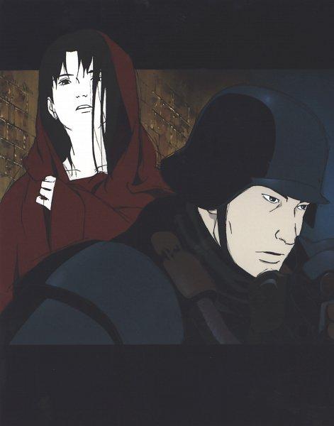 Tags: Anime, Tetsuya Nishio, Production I.G., Jin Roh, Fuse Kazuki, Amemiya Kei, Army, Soldier, Official Art