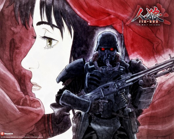 Tags: Anime, Red Riding Hood, Jin Roh, Amemiya Kei, Fuse Kazuki, Army, Soldier, Official Art