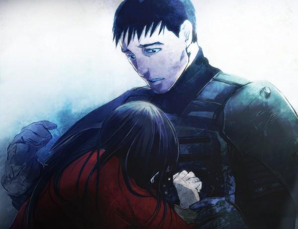 Tags: Anime, Red Riding Hood, Jin Roh, Fuse Kazuki, Amemiya Kei, Army, Soldier, Pixiv, Fanart