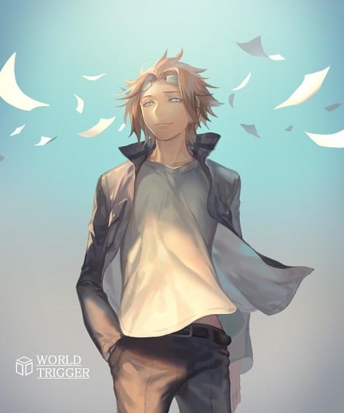 Tags: Anime, Yama Kawa, World Trigger, Jin Yuuichi, Fanart, Fanart From Pixiv, PNG Conversion, Pixiv