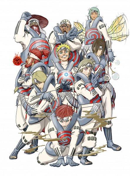 Tags: Anime, NARUTO, Yagura, Uzumaki Naruto, Killer Bee, Fuu (NARUTO), Han (NARUTO), Nii Yugito, Roushi, Gaara, No Eyebrows, Jinchuuriki