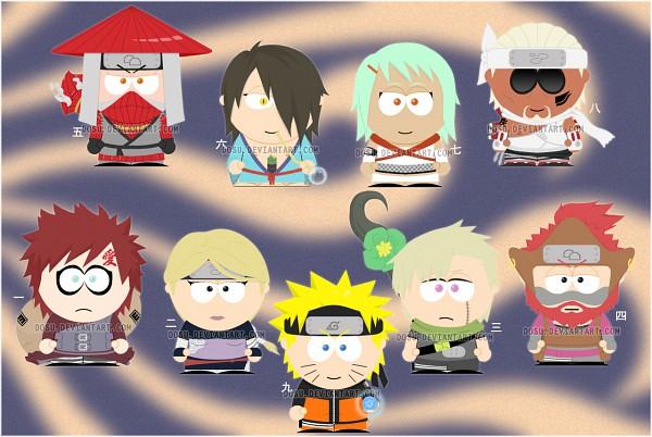 Tags: Anime, South Park, NARUTO, Utakata (NARUTO), Killer Bee, Gaara, Han (NARUTO), Roushi, Yagura, Nii Yugito, Fuu (NARUTO), deviantART, Fanart From DeviantART