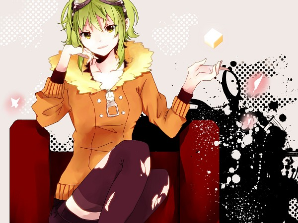 Tags: Anime, Hachi8382, VOCALOID, GUMI, Torn Thigh Highs, Jinsei Reset Button, Pixiv, Life Reset Button