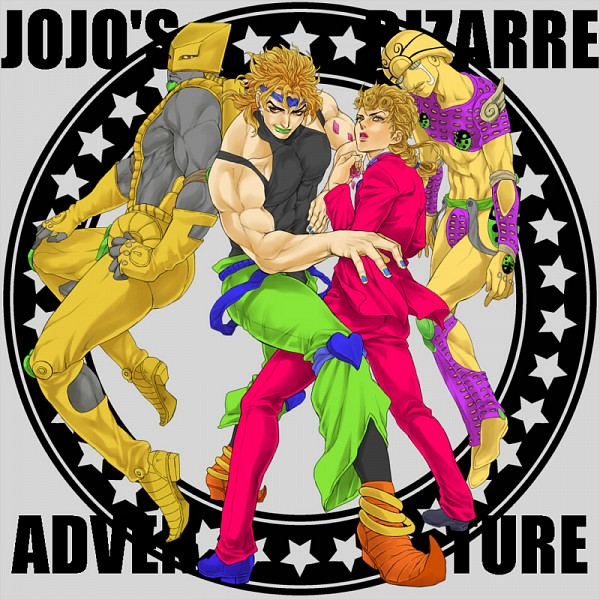 Tags: Anime, Pixiv Id 922771, Vento Aureo, Stardust Crusaders, JoJo no Kimyou na Bouken, Dio Brando, Giorno Giovanna, The World (Stand), Gold Experience, Fanart, Stand, Jojo's Bizarre Adventure