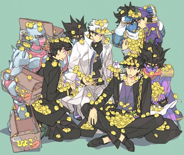 Tags: Anime, Toujou Sakana, Stardust Crusaders, JoJo no Kimyou na Bouken, Stone Ocean, Diamond Is Unbreakable, Higashikata Jousuke, Crazy Diamond, Star Platinum, Kuujou Joutarou, Uncle And Nephew, Uncle, Fanart, Jojo's Bizarre Adventure