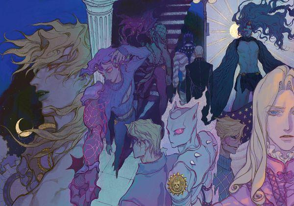 Tags: Anime, Pixiv Id 11471233, Stardust Crusaders, Steel Ball Run, Stone Ocean, Vento Aureo, Battle Tendency, Diamond Is Unbreakable, JoJo no Kimyou na Bouken, Funny Valentine, Killer Queen, Enrico Pucci, Kira Yoshikage, Jojo's Bizarre Adventure