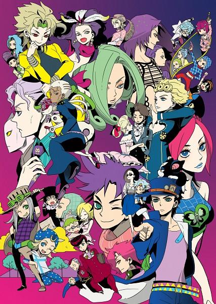 Tags: Anime, Pixiv Id 354651, Diamond Is Unbreakable, Phantom Blood, Stardust Crusaders, JoJo no Kimyou na Bouken, Steel Ball Run, Stone Ocean, Vento Aureo, Battle Tendency, Killer Queen, Wekapipo, Iggy (Stardust Crusaders), Jojo's Bizarre Adventure
