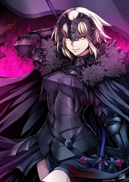 Tags: Anime, Rurunana, Fate/Grand Order, Joan Alter, Joan of Arc (Fate/Apocrypha), La Grondement Du Haine, Mobile Wallpaper, PNG Conversion
