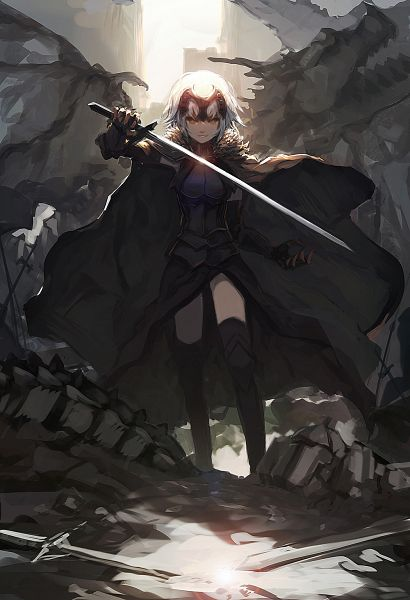 Tags: Anime, Sea (Lordofk), Fate/Grand Order, Joan Alter, Joan of Arc (Fate/Apocrypha), Mobile Wallpaper, Revision