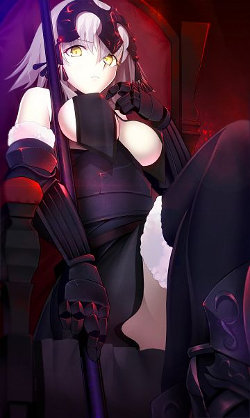 Tags: Anime, Tetsu (Countryside), Fate/Grand Order, Joan Alter, Joan of Arc (Fate/Apocrypha), Mobile Wallpaper