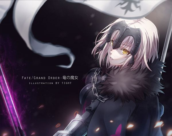 Tags: Anime, Pixiv Id 12682841, Fate/Grand Order, Joan of Arc (Fate/Apocrypha), Joan Alter, La Grondement Du Haine, PNG Conversion
