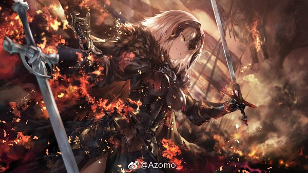 Tags: Anime, Azomo, Fate/Grand Order, Joan of Arc (Fate/Apocrypha), Joan Alter, La Pucelle (Sword), Fanart