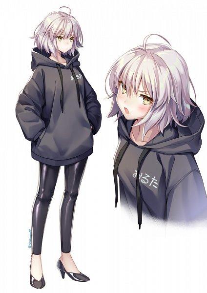 Tags: Anime, Geroro (Artist), Fate/Grand Order, Joan of Arc (Fate/Apocrypha), Joan Alter, Black Hoodie, Fanart