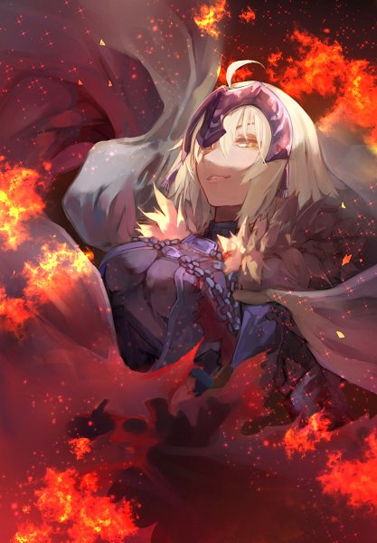 Tags: Anime, Pixiv Id 7242964, Fate/Grand Order, Joan Alter, Joan of Arc (Fate/Apocrypha), La Grondement Du Haine, Holding Flag, Fanart From Pixiv, Pixiv, Fanart