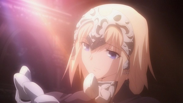 Tags: Anime, TYPE-MOON, Fate/Apocrypha, Fate/zero, Fate/stay night, Joan of Arc (Fate/Apocrypha), Screenshot