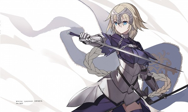 Tags: Anime, Pixiv Id 7514361, Fate/Grand Order, Joan of Arc (Fate/Apocrypha), La Pucelle (Sword), Luminosité Eternelle, Wallpaper