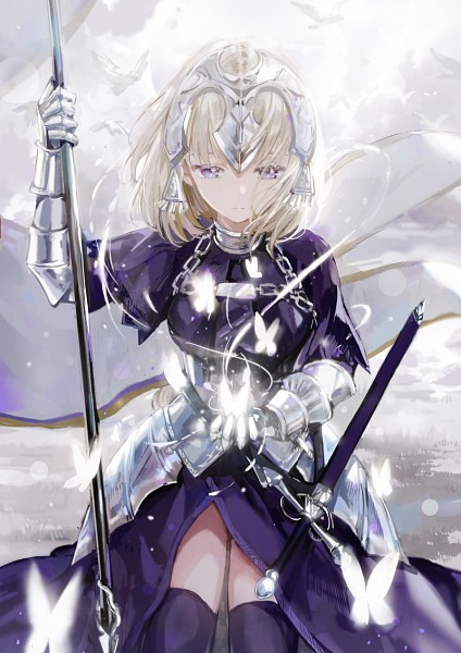 Tags: Anime, Dangmill, Fate/Grand Order, Joan of Arc (Fate/Apocrypha), Luminosité Eternelle, Holding Flag, La Pucelle (Sword), Revision, Fanart, Mobile Wallpaper, Fanart From Pixiv, Pixiv