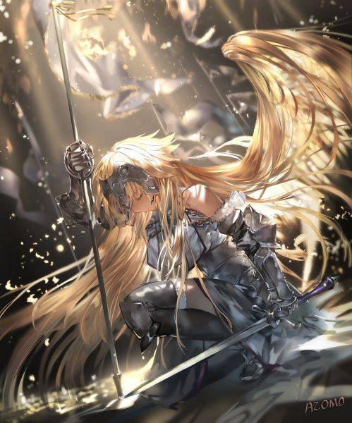 Tags: Anime, Azomo, Fate/Grand Order, Joan of Arc (Fate/Apocrypha), Luminosité Eternelle, Pixiv, Fanart, Fanart From Pixiv