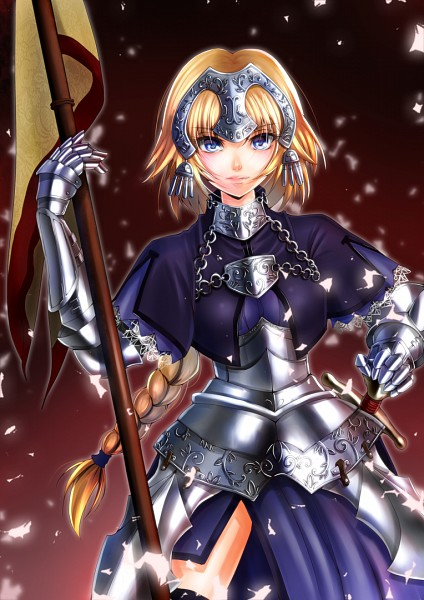Tags: Anime, Amayofuu, TYPE-MOON, Fate/Apocrypha, Joan of Arc (Fate/Apocrypha), Mobile Wallpaper