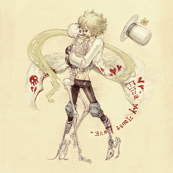 Tags: Anime, Hideandseek, Shaman King, Johann Faust VIII, Rubber Gloves, Beige Background, Pixiv, Fanart From Pixiv, Fanart