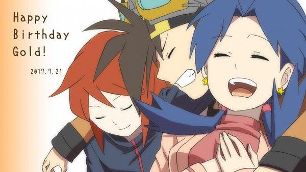 Tags: Anime, Teno, Pokémon SPECIAL, Pokémon, Silver (Pokémon SPECIAL), Gold (Pokémon SPECIAL), Crystal (Pokémon SPECIAL), Group Hug, Fanart, Twitter, Johtrio