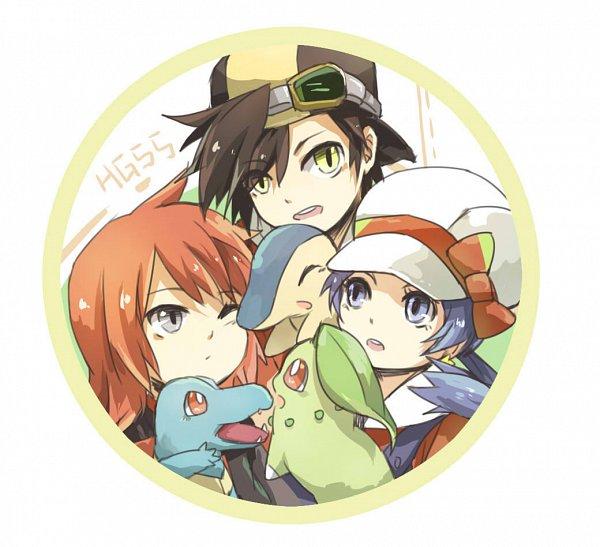 Tags: Anime, Pixiv Id 3126529, Pokémon SPECIAL, Pokémon, Cyndaquil, Gold (Pokémon SPECIAL), Chikorita, Crystal (Pokémon SPECIAL), Totodile, Silver (Pokémon SPECIAL), Fanart, Pixiv, Fanart From Pixiv