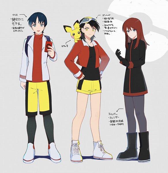 Tags: Anime, Pogigi, Pokémon SPECIAL, Pokémon, Gold (Pokémon SPECIAL), Pichu, Crystal (Pokémon SPECIAL), Silver (Pokémon SPECIAL), Fanart, Twitter, Johtrio
