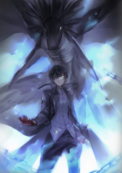 Tags: Anime, Pixiv Id 3075459, Shin Megami Tensei: PERSONA 5, Joker (Persona 5), Amamiya Ren (Persona 5), Fanart From Pixiv, Pixiv, Mobile Wallpaper, Fanart