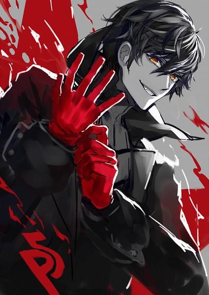 Tags: Anime, Shirai Hidemi, Shin Megami Tensei: PERSONA 5, Joker (Persona 5), Amamiya Ren (Persona 5), Fanart From Pixiv, Pixiv, Fanart
