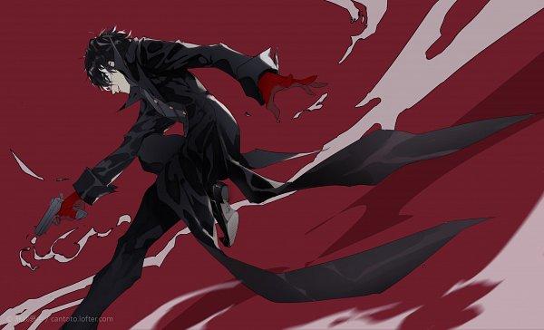 Tags: Anime, Pixiv Id 2171620, Shin Megami Tensei: PERSONA 5, Amamiya Ren (Persona 5), Joker (Persona 5), Pixiv, Fanart, Fanart From Pixiv