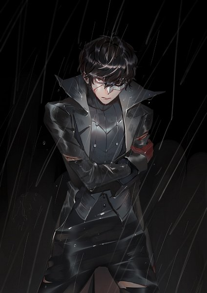 Tags: Anime, Pixiv Id 3932198, Shin Megami Tensei: PERSONA 5, Amamiya Ren (Persona 5), Joker (Persona 5), Black, Pixiv, Fanart, Fanart From Pixiv