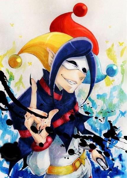 Tags: Anime, Pixiv Id 3353198, Smile Precure!, Joker (Smile Precure), Ink, Pixiv, Fanart, Fanart From Pixiv