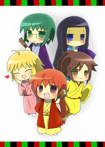 Tags: Anime, Pixiv Id 2197653, Joshiraku, Anrakutei Kukuru, Haroukitei Kigurumi, Buratei Marii, Kuurubiyuutei Gankyou, Bouhatei Tetora